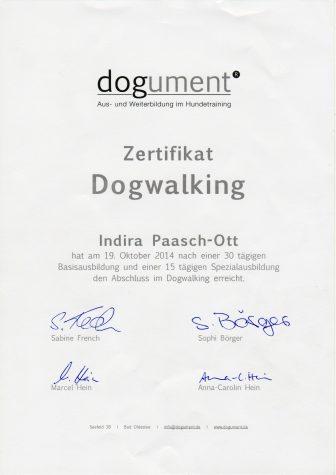 Zertifikat Dogwalking